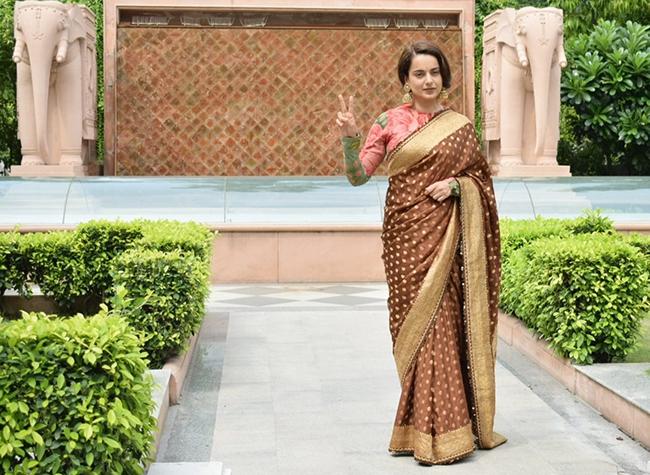 कंगना रनौत ने किया ''थलाइवी'' का प्रचार : पहुंचीं दिल्ली