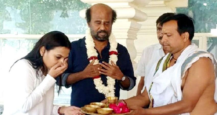 साउथ के सुपरस्टार रजनीकांत ने जमाई और बेटी संग किए बाबा केदारनाथ के दर्शन