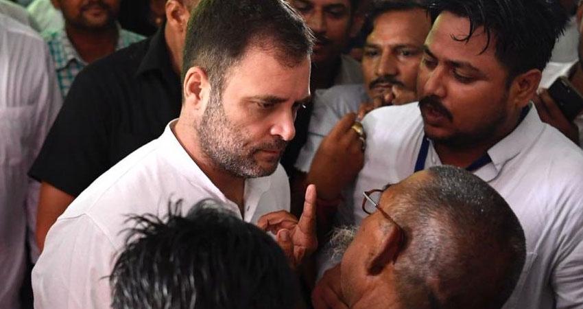अमेठी में छलका राहुल का दर्द, कहा अमेठी की सेवा के लिए हमेशा रहूंगा तैयार