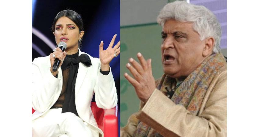 कश्मीर मुद्दे पर प्रियंका चोपड़ा के समर्थन में उतरे जावेद अख्तर