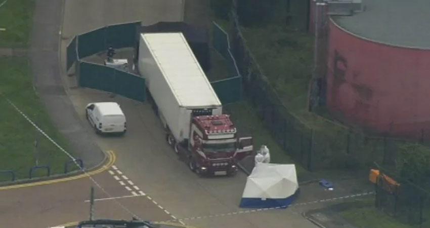 लंदन में एक ट्रक कंटेनर से 39 शव मिले
