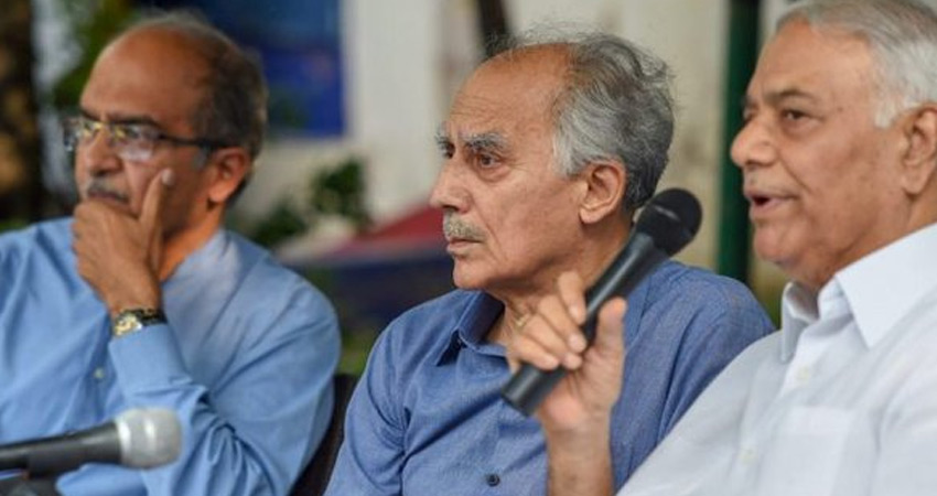 भूषण, शौरी, सिन्हा ने राफेल मामले को लेकर मोदी सरकार के खिलाफ फिर खोला मोर्चा