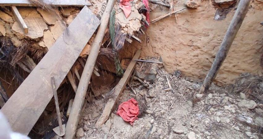 पुराना आवासीय भवन हुआ धराशायी 3 वर्षीय बालिका की मौत, महिला घायल