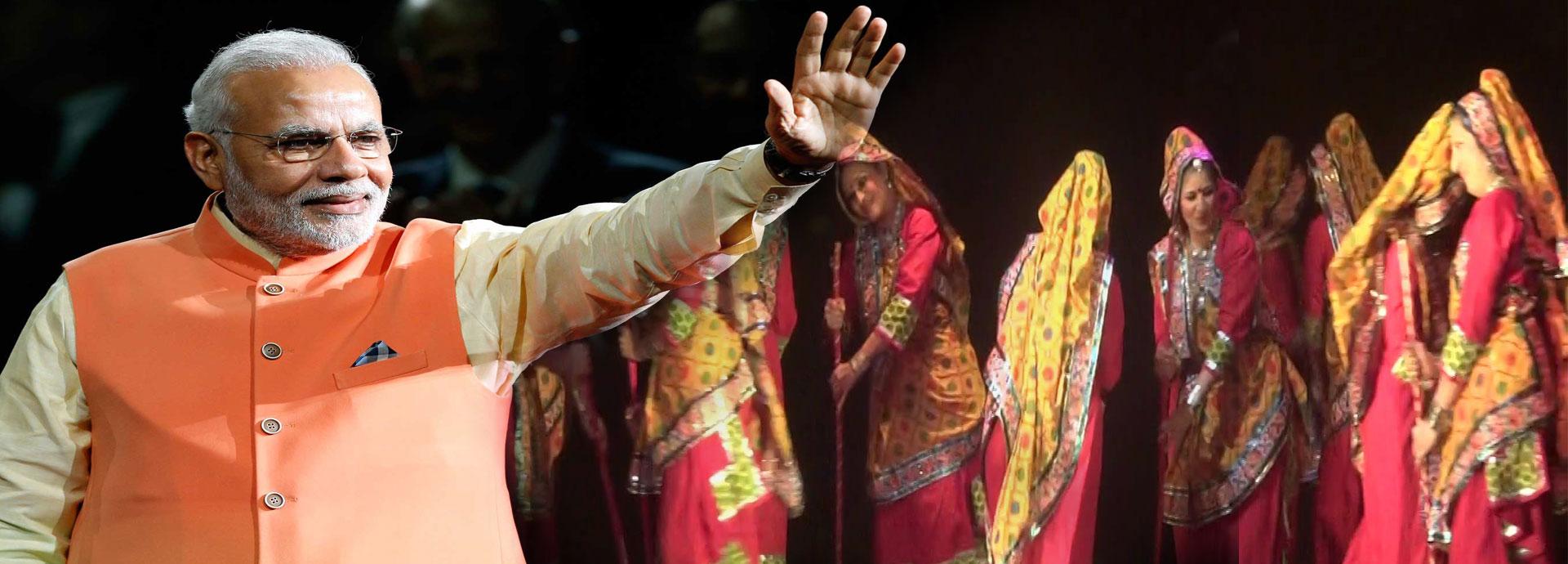 25 साल पहले पीएम मोदी ने लिखा था ये गाना, जिस पर दृष्टिहीन लड़कियों ने किया गरबा