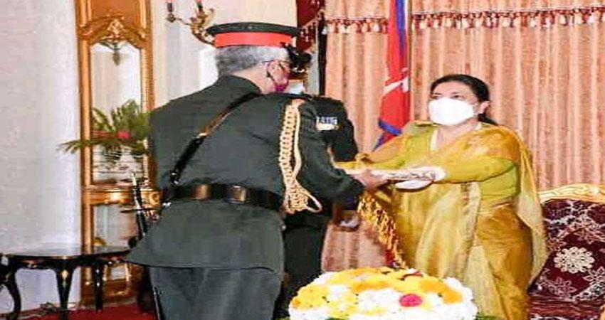 नरवणे पहुंचे नेपाल, सेना के जनरल की मानद उपाधि से हुए सम्मानित