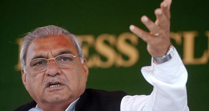 भूपेन्द्र हुड्डा ने किया साफ- हरियाणा सरकार के खिलाफ कांग्रेस लाएगी अविश्वास प्रस्ताव