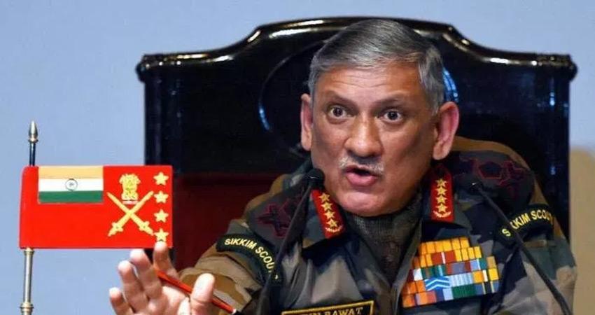 जनरल बिपिन रावत ने चीन के साथ पाकिस्तान को भी चेताया