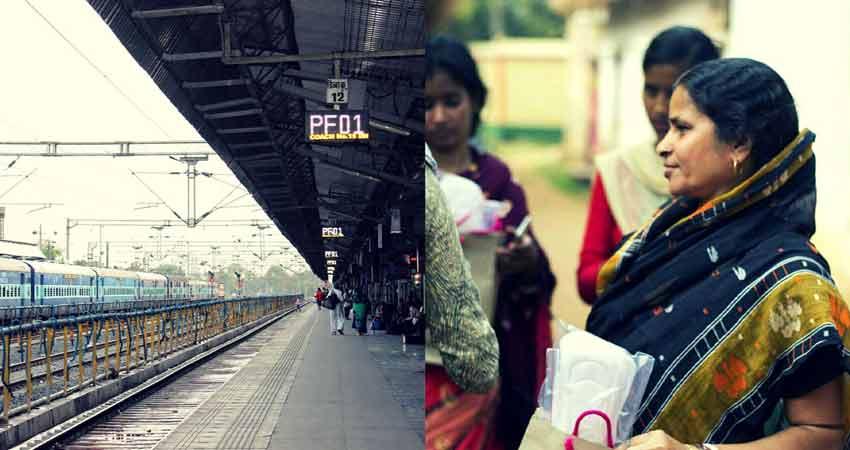 रेल यात्रियों के लिए अधिकारियों की पत्नियां बनीं 'पैडमैन'