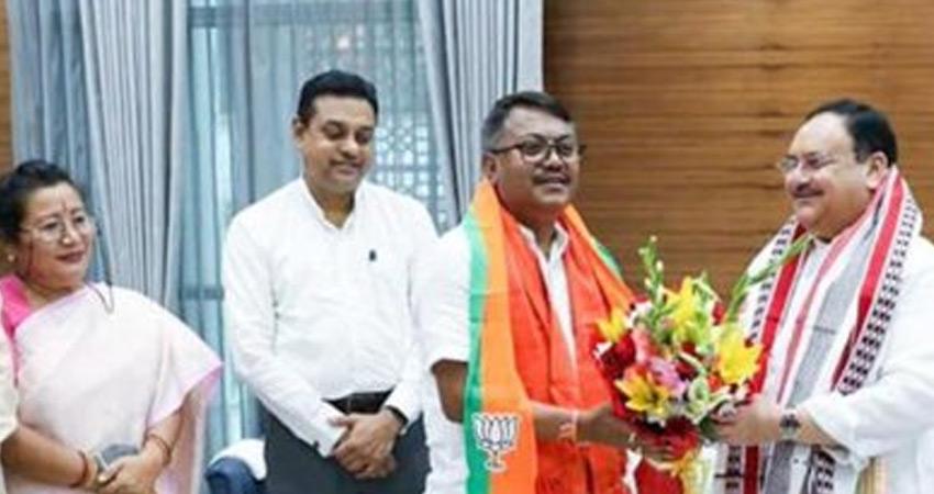 मणिपुर चुनाव से पहले कांग्रेस को झटका, दिग्गज नेता कोंथूजाम भाजपा में शामिल