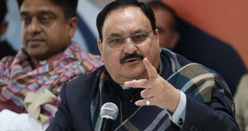 दिल्ली चुनाव: जे पी नड्डा ने AAP के साथ कांग्रेस को लिया आड़े हाथ