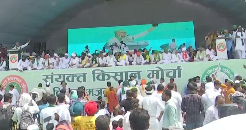 मुजफ्फरनगर महापंचायत में संयुक्त किसान मोर्चा ने किया भारत बंद की नई तारीख का ऐलान