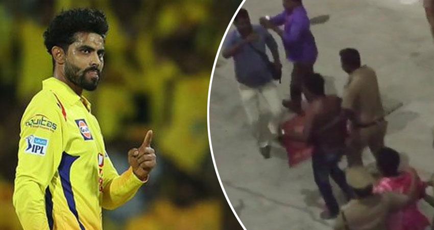 चेन्नई में IPL मैच के दौरान रविंद्र जडेजा पर फेंका गया जूता, मचा हड़कंप