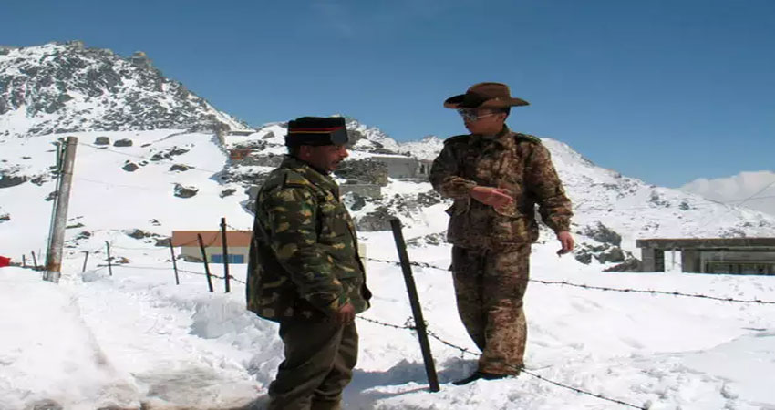 Indian and chinese army