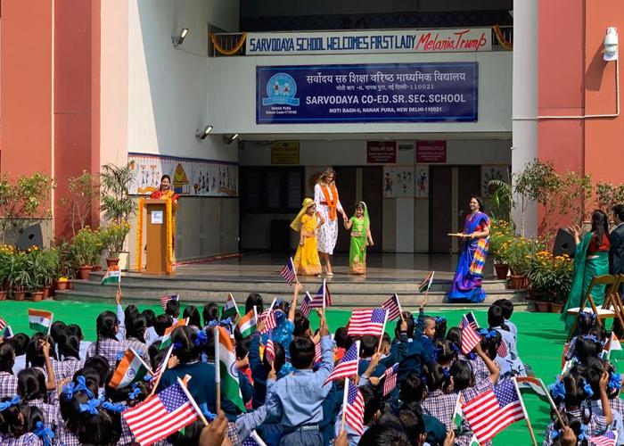 Melania Trump at Sarvodaya Co-Ed Senior Secondary School