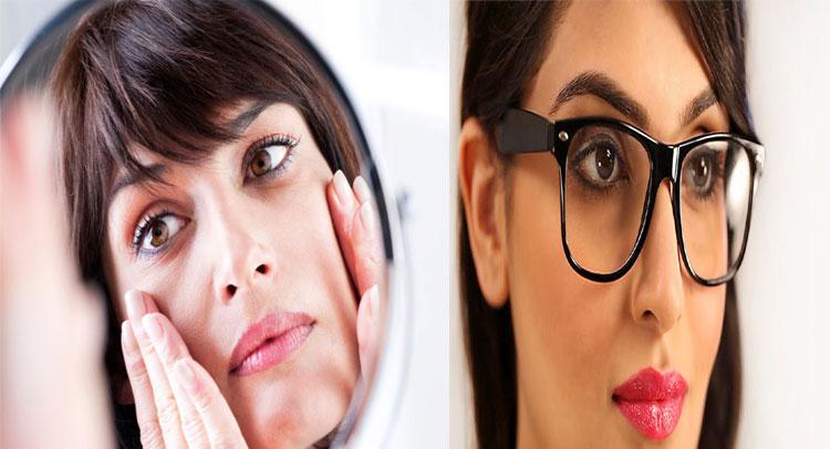 इन घरेलू उपाय चश्मे से नाक पर बने डार्क सर्कल को मिटाने के है