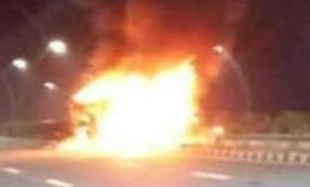 आनंद विहार से लखनऊ जा रही रोडवेज में लगी आग, 4 यात्रियों की मौके पर मौत