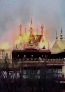 तिब्बत में प्राचीन बौद्ध मंदिर में लगी भयंकर आग,...