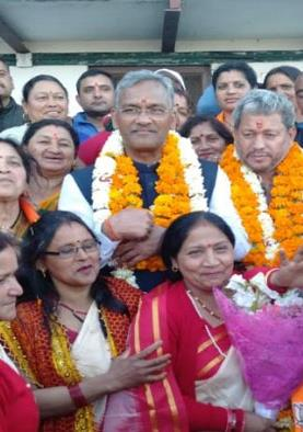मुख्यमंत्री ने भाजपा प्रत्याशी तीरथ सिंह रावत के...